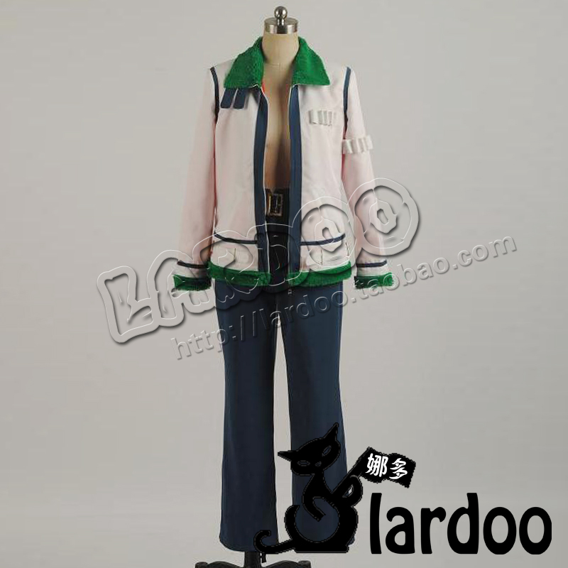 Anime One Piece Smoker Cosplay Costumes with gloves and shoe covers Customized