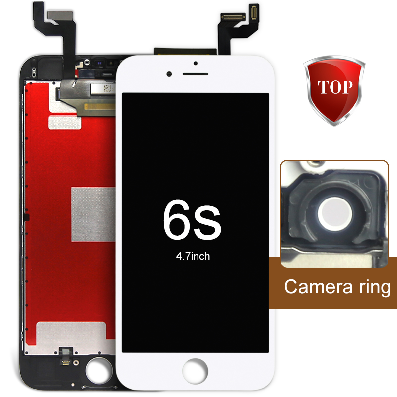 ФОТО 5 pcs DHL Alibaba China For Iphone 6s Lcd Display Touch Digitizer Glass Bezel Frame Top Fashion +AAA LCD+Camera Holder+Frame
