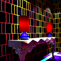 Modern Design Fashion Abstract Stripes Wallpaper Mural 3D Bedroom Living Room KTV Bar Background Glitter Wallpaper