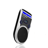 FM Bluetooth Car Kit Sun Visor Hands Free Speakerphone Speaker For Cellphone Compatible With Most Bluetooth Enabled Mobile Phone