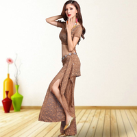 Belly Dance Exercise Clothes Performance Clothes 2017 New Belly Dance Costumes Sexy Lace Short Sleeve
