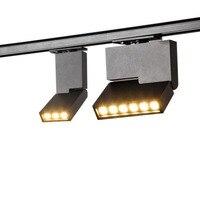 10 pçs de alta qualidade 6 w 12 ajustável led luzes da trilha lâmpadas led ferroviário AC85-265V recesso teto lâmpadas para casa museu lojas