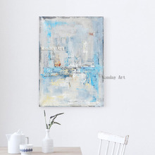 Dropshipping Large wall art acrylic painting hand painted canvas modern picture for bedroom