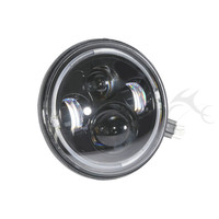 Black 7 Inch Projector HID LED White Halo Headlight For Jeep Wrangler for Harley Davidson Touring Softail Dyna 97 15 Motorcycle