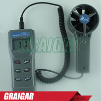 AZ8911 Portable Remote Fan Anemometer air flow meter,AZ8911 temperature / humidity / dew / wet bulb / wind speed meter