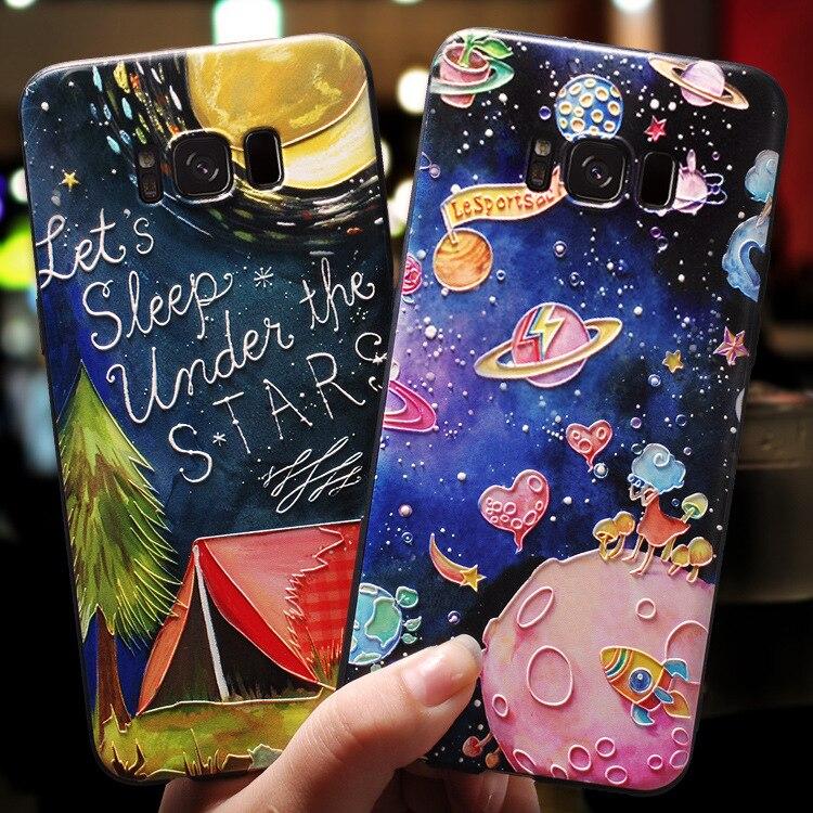 3D Relief TPU Case For Samsung Galaxy A50 A51 A70 A71 A10 A10e A21 A30 S20 Ultra Note 10 Lite 9 J4 J6 A6 Plus A9 A8 A7 2018 Capa