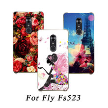 High Quality Patterns TPU SOFT Silicone Printed case For Fly Cirrus 16 FS523 DIY colored drawing Phone Covers For Fly FS523(China)