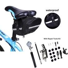 Multi-function Bike Bicycle Cycling Tool Bag With Repair Kit Set Portable Waterproof MTB Road Bike Bicycle Rear Bag Accessories