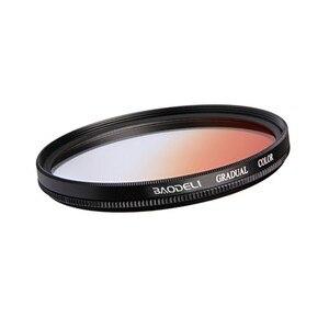 Image 5 - BAODELI Grijs Oranje Blauw Rood Nd Gradiënt Filter Concept 49 52 55 58 62 67 72 77 82 Mm Voor canon 77d Nikon Sony A6000 Accessoires