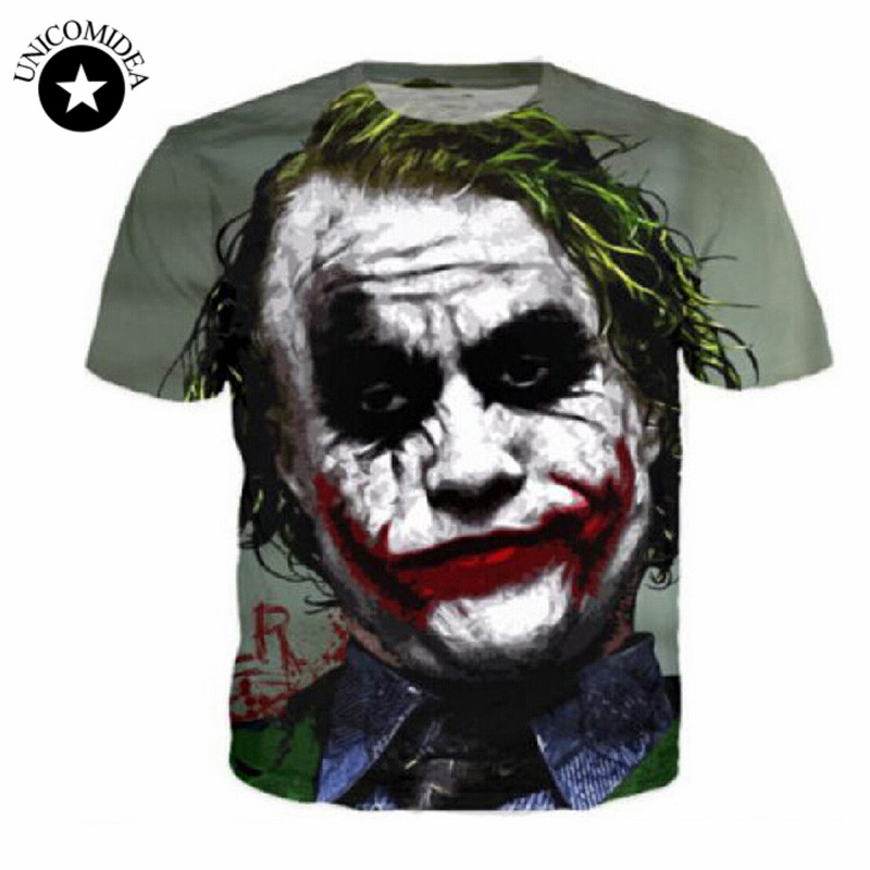 Hot Sales Dark Knight Joker Face T Shirts Men Harajuku 3D ...   800 x 800 jpeg 89kB