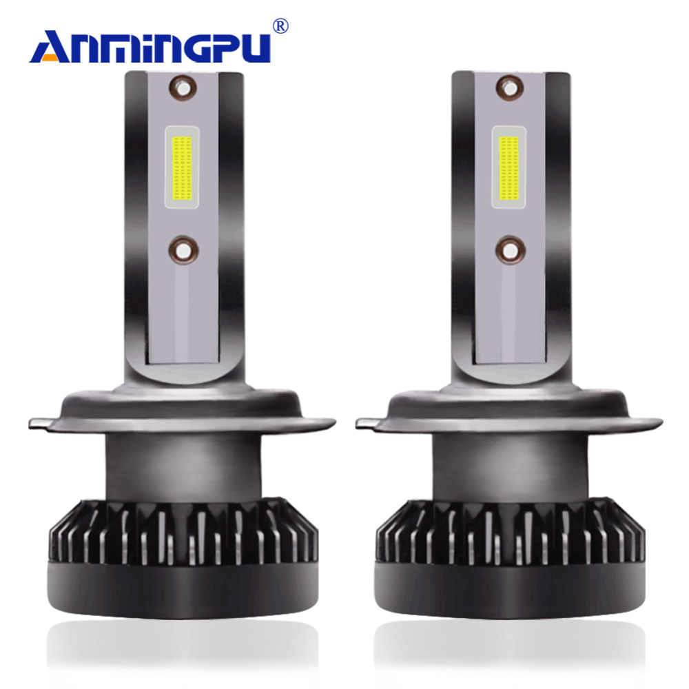 ANMINGPU 2x Mini Led H7 Headlight Bulbs 8000LM H1 H7 Led Bulb 9005/HB3 9006/HB4 H8 H9 H11 Fog Light COB Car Light Kits 6000K 12V