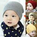 2017 Crochet Tejer Moda Caliente Sombrero Del Bebé Capsula Niños Puros Del Color Del Caramelo Niños Sombreros Niños Niñas Beanie Sombreros Accesorios
