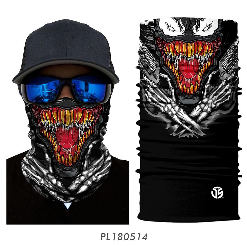 3D Balaclava Venom Motorcycle Mask 14