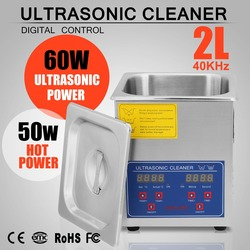2L 110W Ultrasonic Cleaner Cleaning Basket Time Setting Professional Personal or Home Use