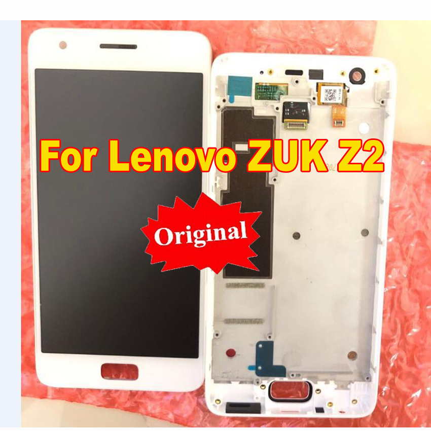 LTPro Original LCD Display Touch Screen Digitizer Assembly with frame For Lenovo ZUK Z2 Z2131 5.0 Replacement Parts sensor