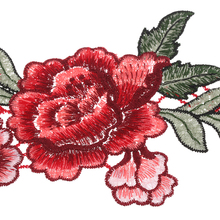 Embroidery Rose Flower Dress Sew On Patches