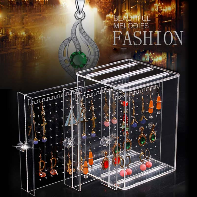 2017New Design Clear Jewelry Boxes And Packaging Stud Earrings Collection Holder Creative Jewelry Display Jewellery Gift