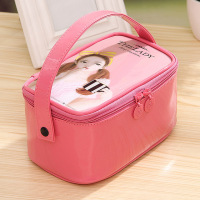 Cartoon Cute Women Cosmetic Bags PU Makeup Organizer Box Female Travel Make Up Wash Bag Waterproof