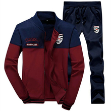 2016 New Mens Sweat Suits Autumn Brand Tracksuits Sets Jogger Jacket + Pants Sporting Suit Hip Hop Sweatshirts Sudaderas M – 4XL