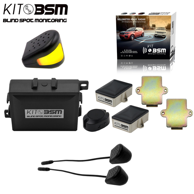 1set Auto Parts Microwave Sensor Blind Spot Detection System Bsd 24ghz Bsm Monitoring Kit