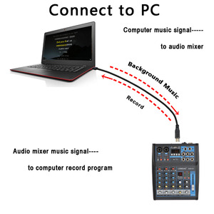 Image 3 - LOMOEHO AM 04 2 מונו + 1 סטריאו 4 ערוצים Bluetooth USB 48V פנטום מקצועי DJ אודיו מיקסר