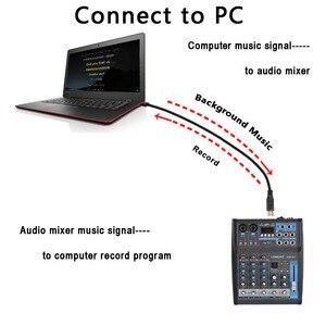 Image 3 - LOMOEHO AM 04 2 Mono + 1 Stereo 4 kanały Bluetooth USB 48V Phantom profesjonalny mikser Audio DJ