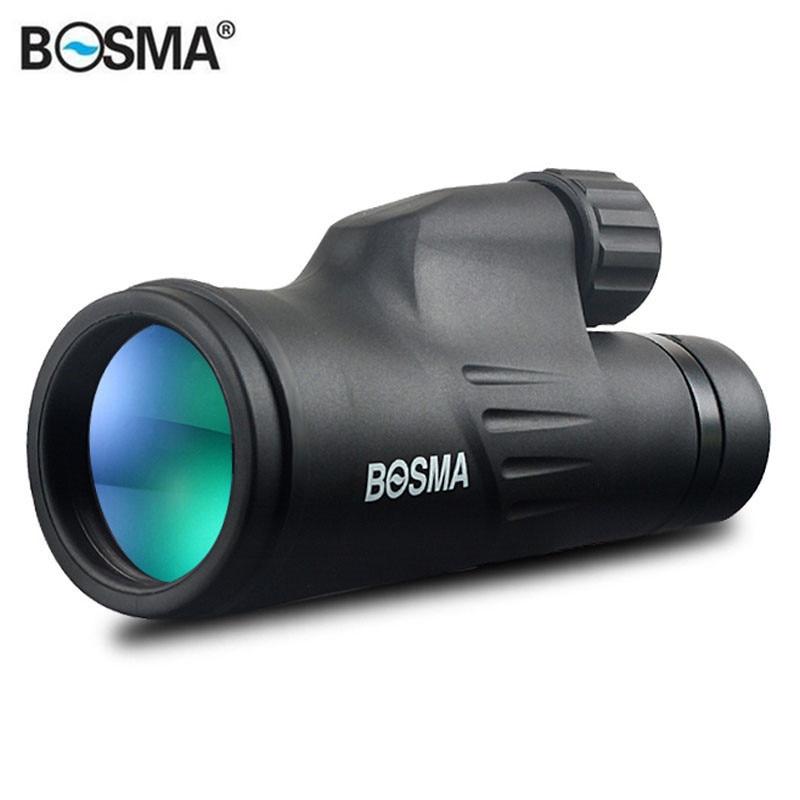 BOSMA 10X50/12X50 Hunting Optics Monocular HD Prism Nitrogenization Waterproof Bird Watching Telescope for Outdoors Camping 50 10