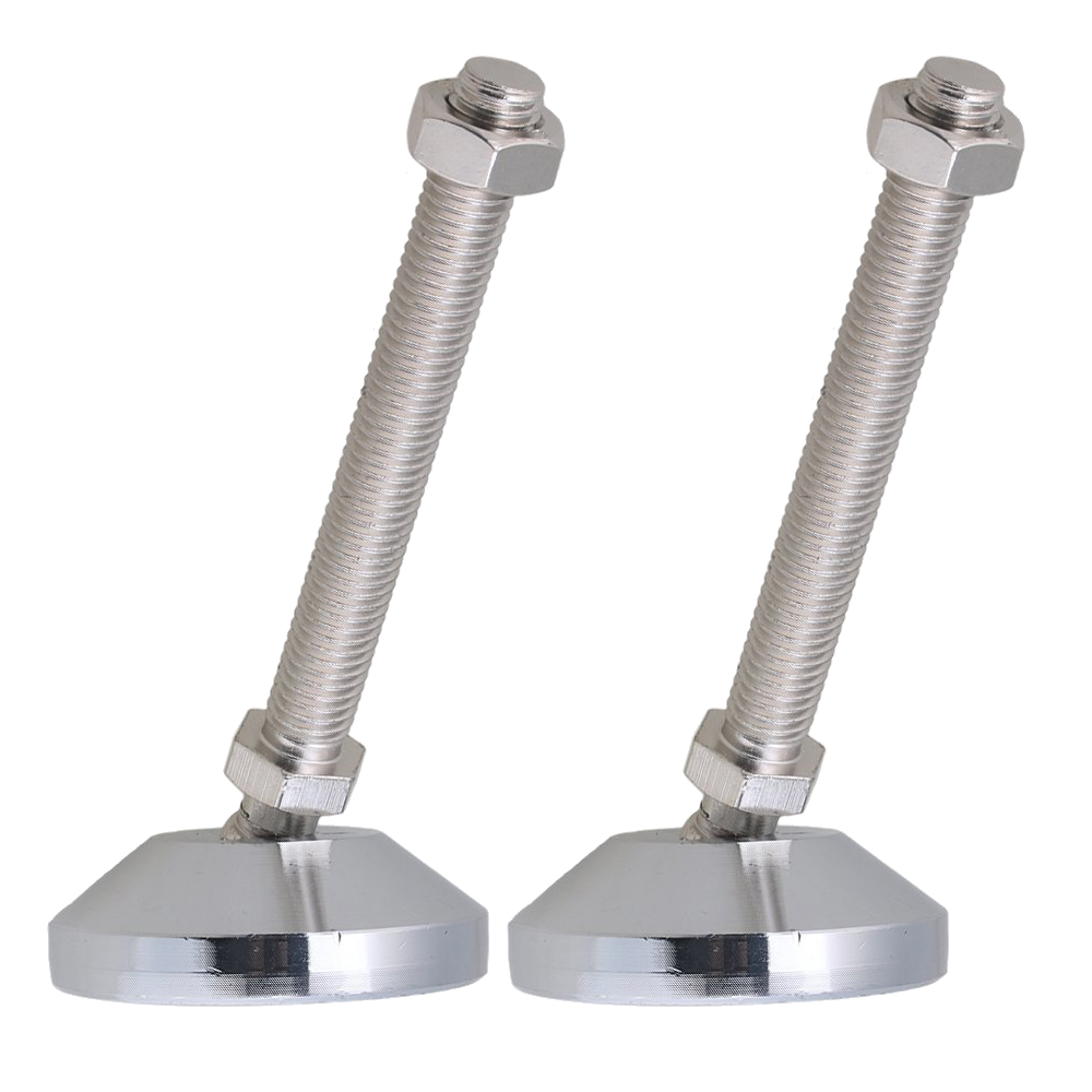 Carbon Steel 60mm Dia M12x100mm Thread Fixed Adjustable Feet For Machine Furniture Feet Pad Max Load 2Ton Pack Of 2