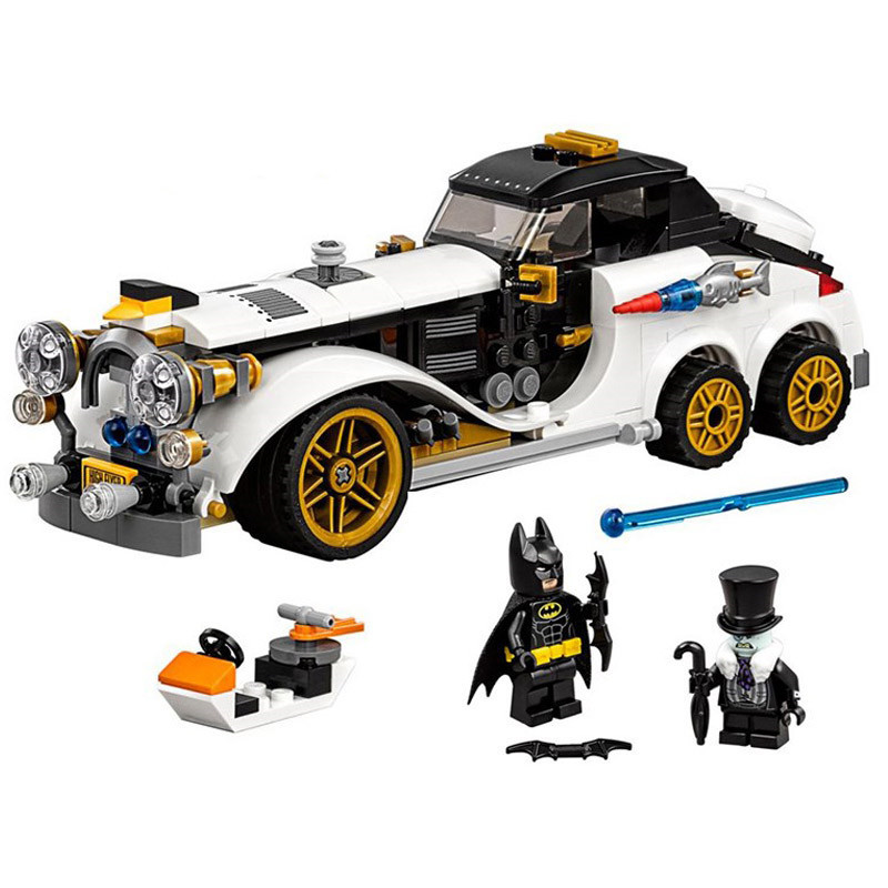 305Pcs DIY Model Legoing batman batmobile 70911 The Penguin Arctic Roller DC Super Heroes Movie Building Blocks Bricks boys Toys moc 1128pcs the batman movie bane s nuclear boom truck super heroes building blocks bricks kids toys gifts not include minifig