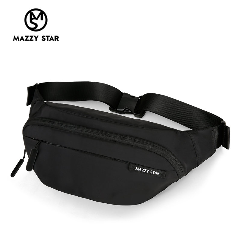 Waist Bag Men Fanny Pack Black Waterproof Chest Handbag Money Belt Bag Men Teenager's Travel Wallet Belt Male Chest Phone Pouch