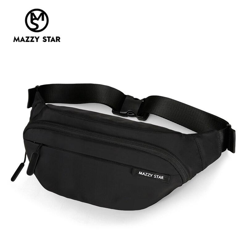 Waist Bag Men Fanny Pack Black Waterproof Chest Handbag Money Belt Bag Men Teenager's Travel Wallet Belt Male Chest Phone Pouch