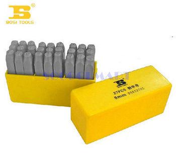 1pcs 6mm Dia Super Hard Steel Alphabet Emboss Punch 27 in 1 Letter Stamp Set