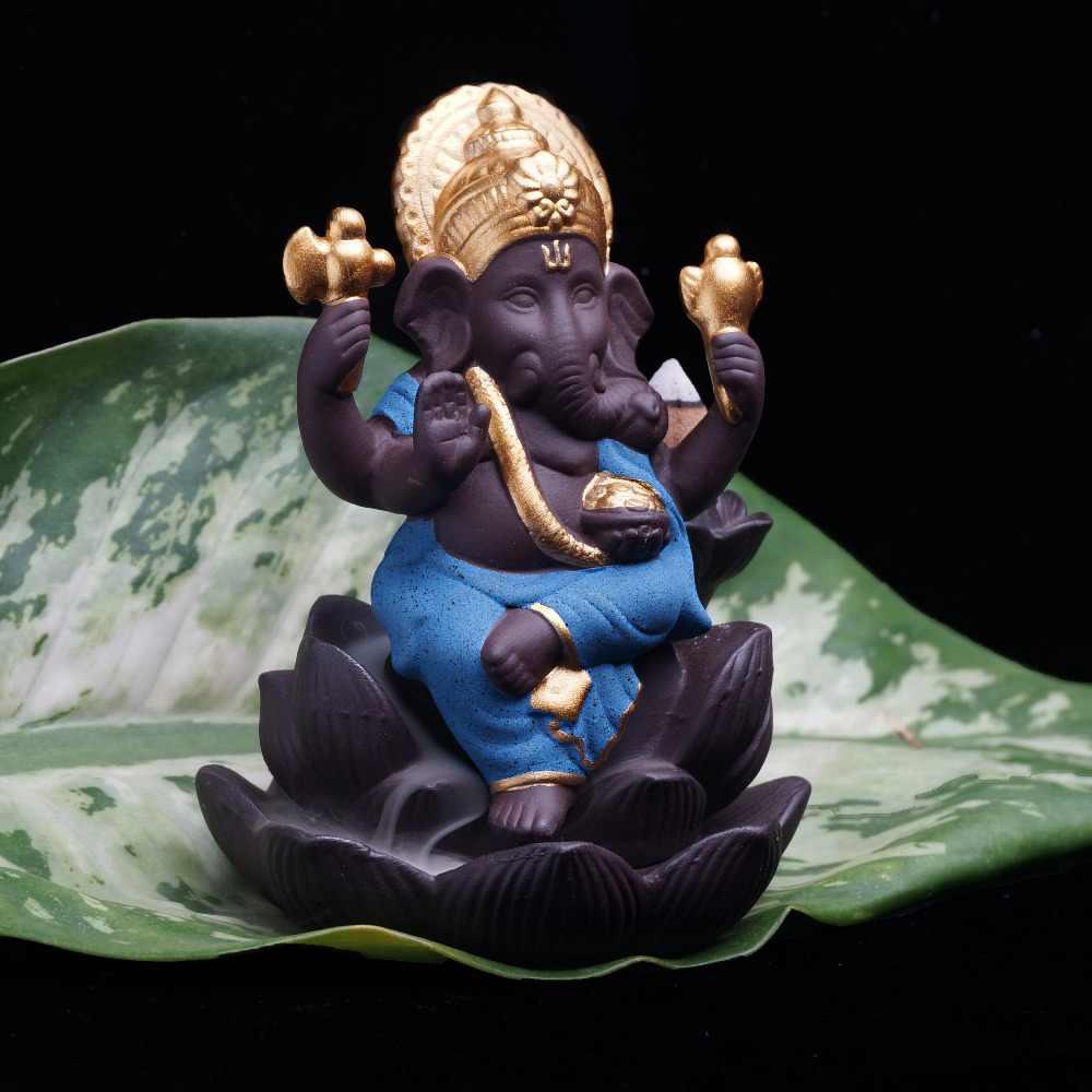 인도 코끼리 동상 코끼리 하나님 부처님 동상 backflowing 향 버너 기본 장식품 gifurines 방 정원 홈 장식