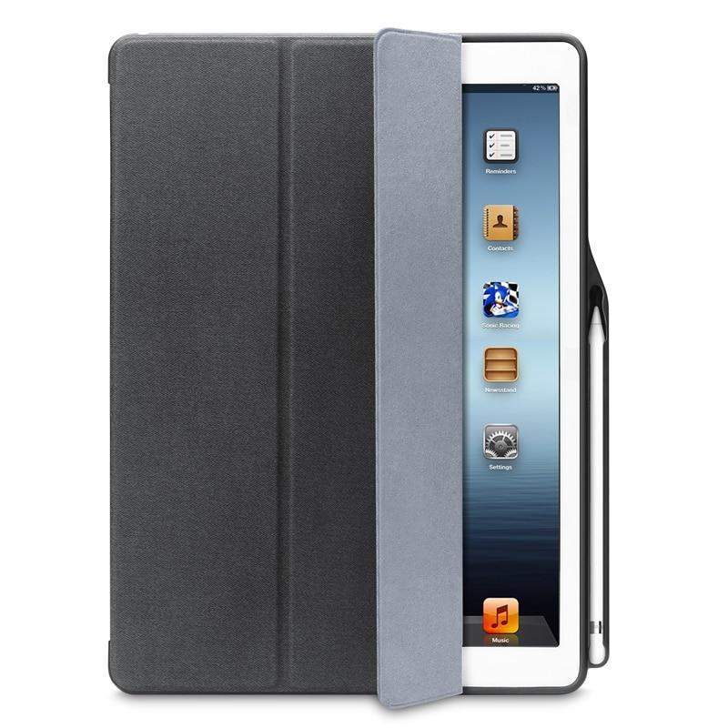 IVAPO For IPad Pro 12 9 Case Leather PU Ultrathin Flip Folio Case With Pencil Holder