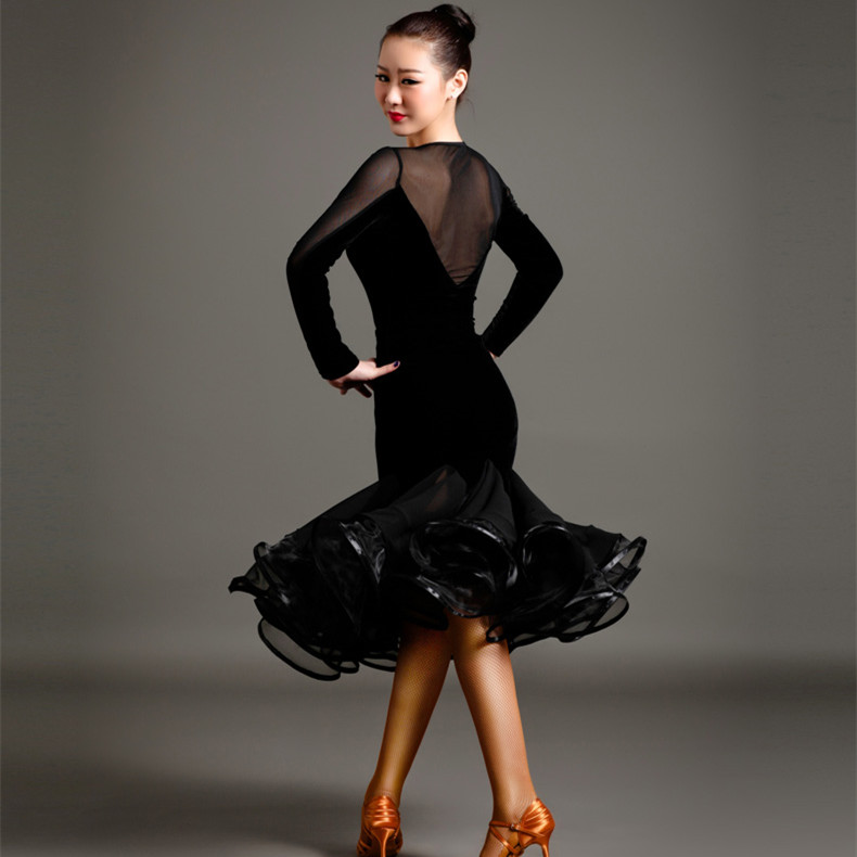 black latin american dance dresses women latin dress modern dance costume tango dress latin salsa dress samba costume dance wear