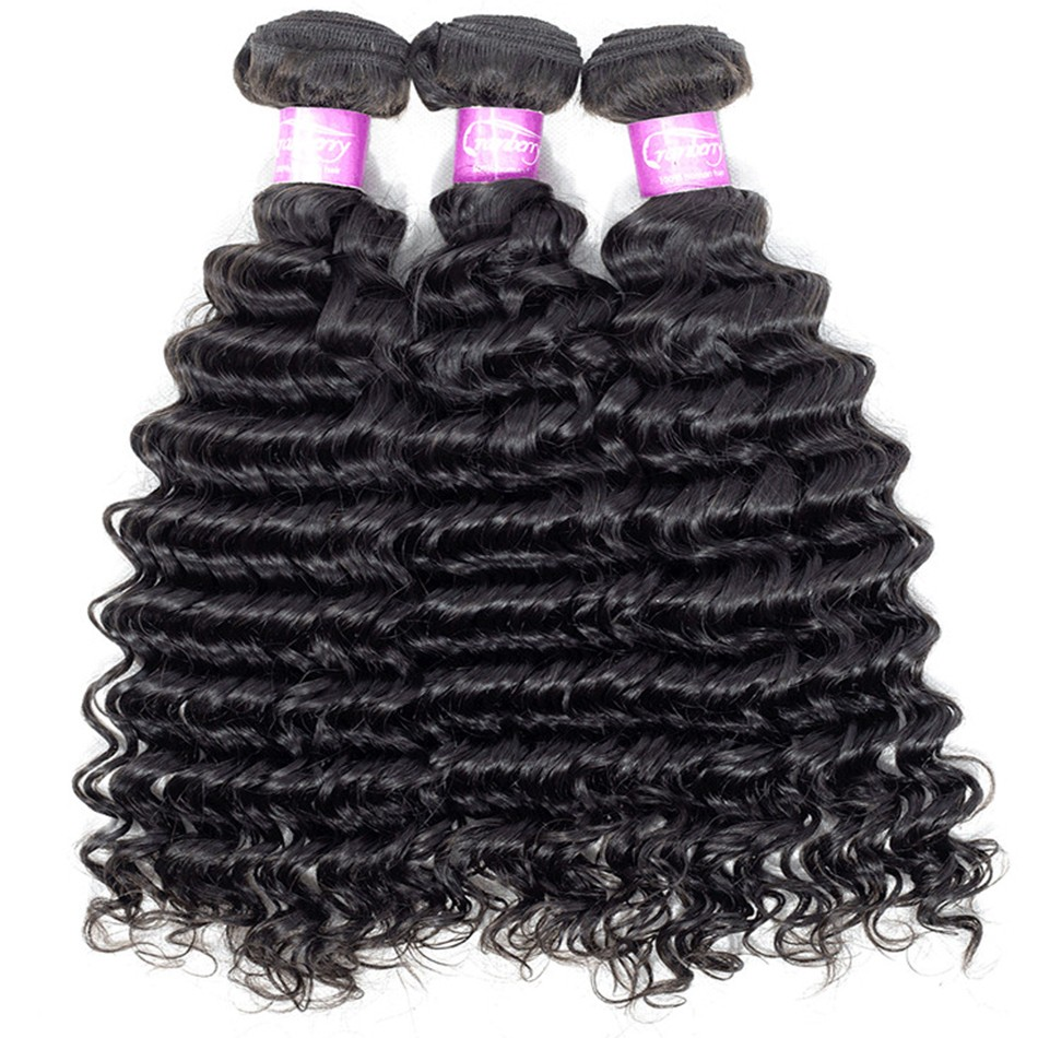 deep wave virgin human hair bundles selling