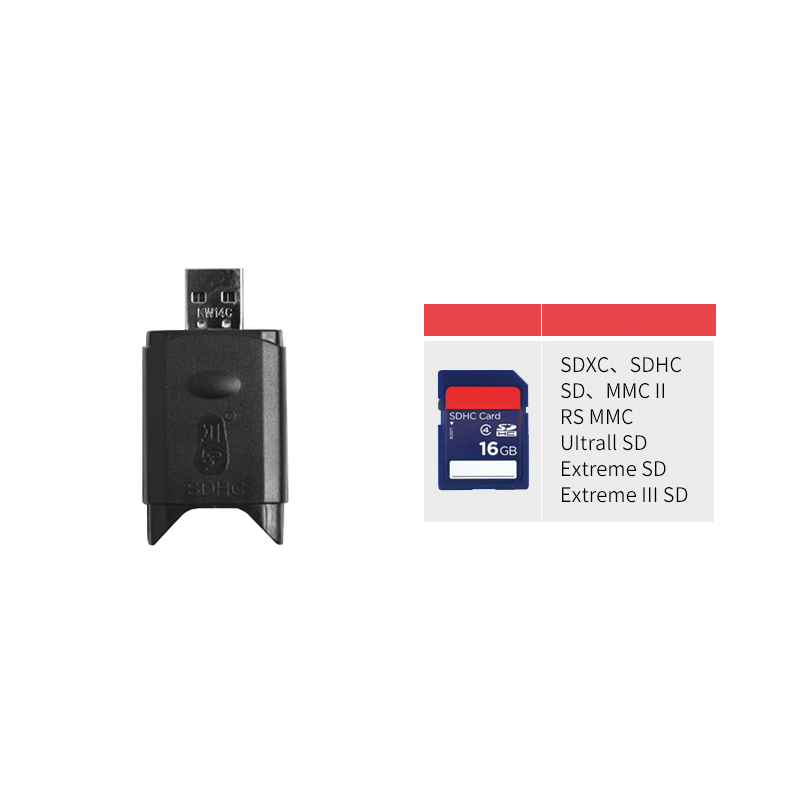 Kawau 2.0 USB SD Card Reader High Speed Adapter with SD Card Slot for Computer Max Support 64GB Memory Card Reader C299