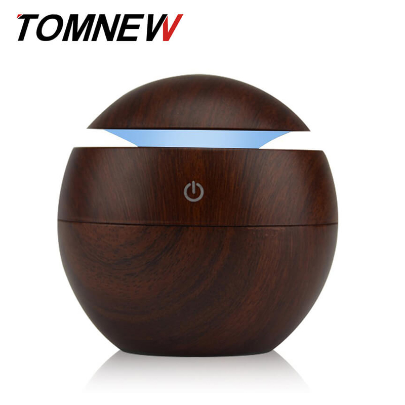 130ML Cool Mist Humidifier USB Aromatherapy Diffuser Essential Oils Aroma Diffuser Wood Grain Mini For Home Office Spa