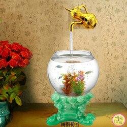 Biurko magiczny akwarium magiczny zawieszany Ornament wodny zawieszający kran zawieszający gurda Ornament płynąca woda lampa fontanna