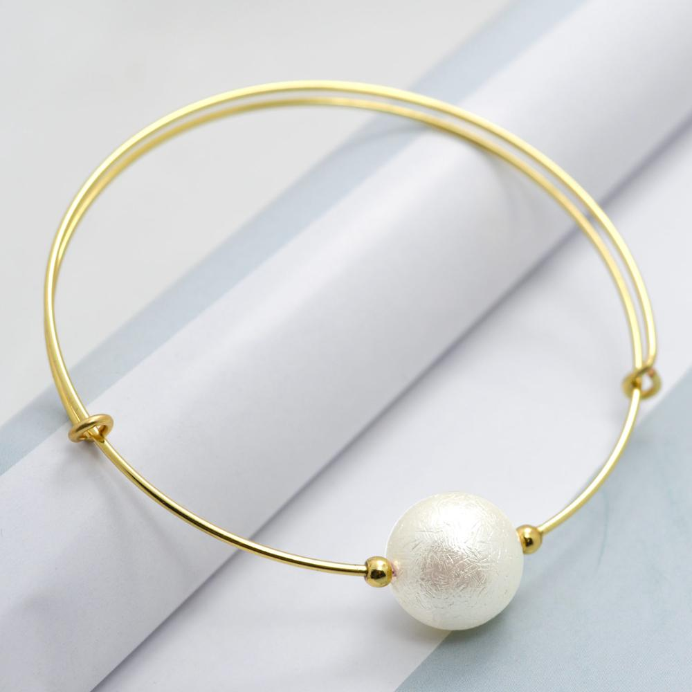 Simple Fashion Gold Color Thin Metal Adjustable Expandable Wire ...
