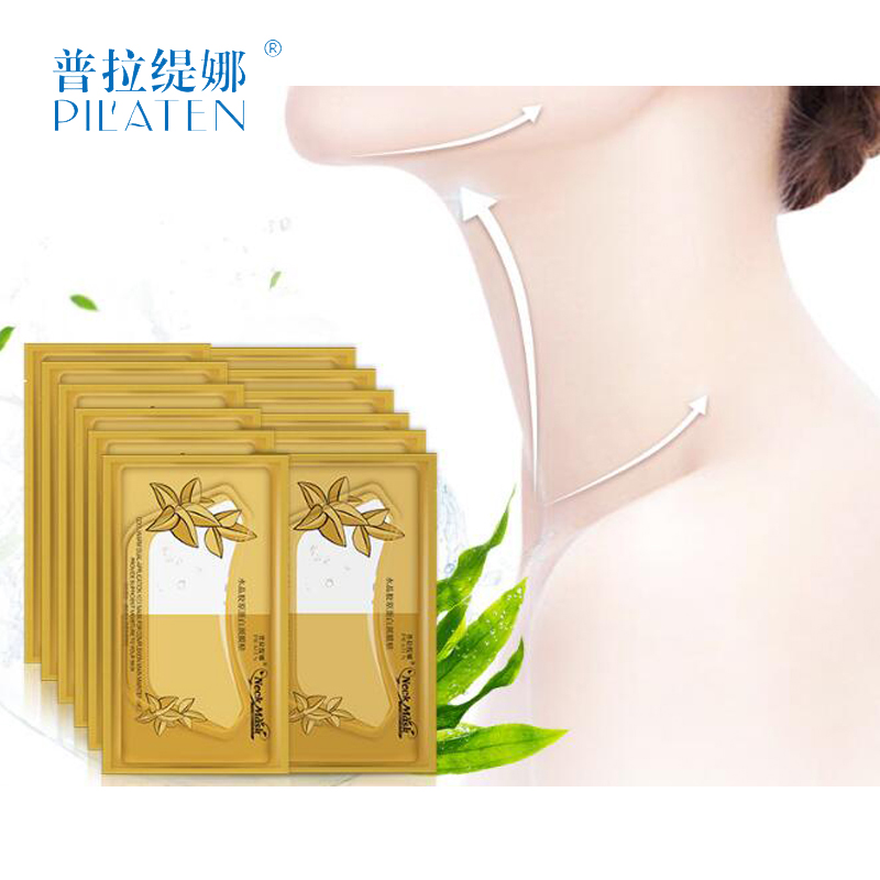 Pilaten 2pcs Collagen Crystal Neck Mask beauty Whitening Moisturizing Cream skin care whey protein set medical plaster beleza