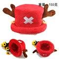 Venta caliente Linda de la Historieta Animal sombreros de Una Pieza Chopper cosplay felpa sombrero después de color rojo Suave de la Felpa tapas Orejera