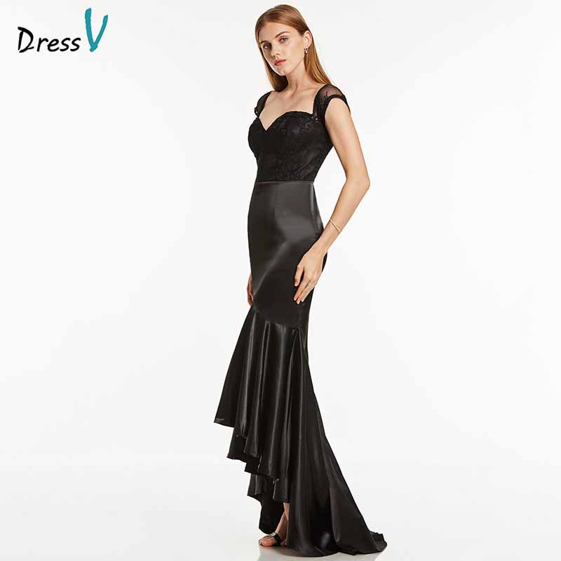 Dressv dark royal blue long evening dress cheap v neck mermaid cap sleeves wedding party formal dress lace trumpet evening dress