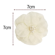 20pcs/lot 5cm Chiffon Flower with Mesh DIY Handmade Ornament For Baby Headband Accessories MOMLOVEDIY