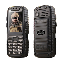 Shockproof Dustproof anti slip rubber dual sim flashlight big key power bank long standby army outdoor rugged mobile Phone P497