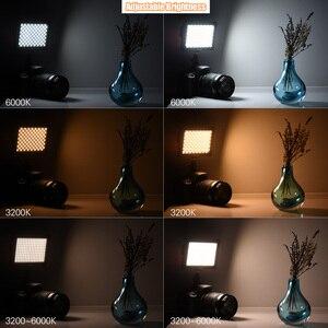 Image 5 - Andoer Mini Studio vidéo photographie LED panneau lumineux lampe 3200K/6000K 192 pièces perles pour Canon Nikon DSLR appareil photo DV caméscope
