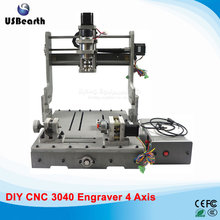 DIY 3040 rotary axis  cnc router 300w cnc spindle cnc machine for wood drilling pcb milling