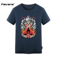 Flevans 2017 Verano Nueva Fullmetal Alchemist Imprimir Camisetas para Hombre Casual Streetwear Hip Hop Hombres Camiseta de La Moda Tops Tee