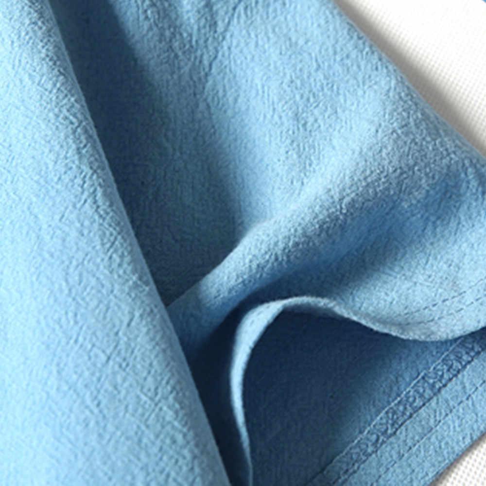 2019 新到着男性のファッション夏カジュアルリネンやコットン半袖ネック Tシャツトップブラウス Tシャツ Freeship