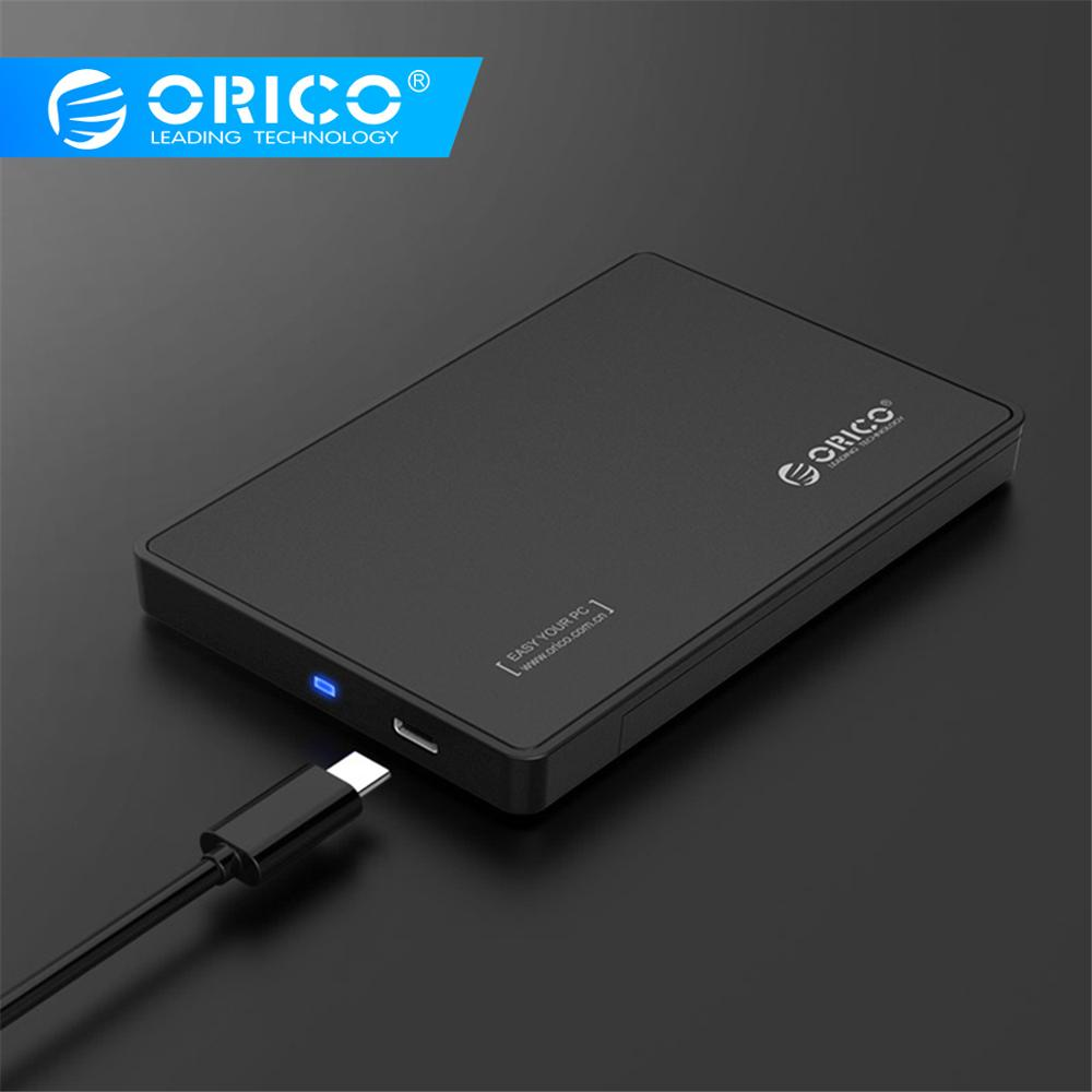 ORICO 2.5 Inch Type-C Hard Drive Enclosure USB3.1 Gen2 Type-C SSD Adapter USB3.0 Hard Disk Drive Box For SSD External HDD Case